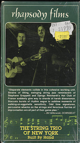 The String Trio of New York VHS