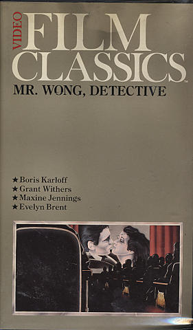 Video Film Classics: Mr. Wong, Detective VHS
