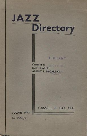 Jazz Directory: Volume Two - Ten Shillings