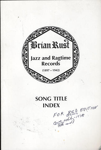Song Title Index: Jazz and Ragtime Records (1897 - 1942)