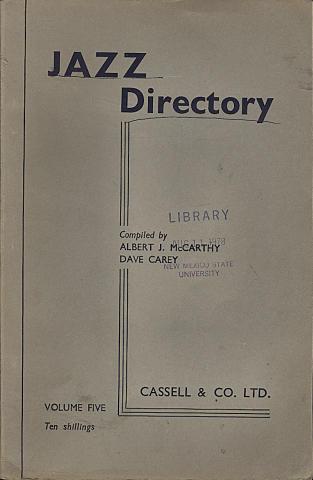 Jazz Directory: Volume 5 - Ten Shillings