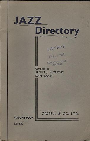 Jazz Directory: Volume 4 - 12s. 6d.