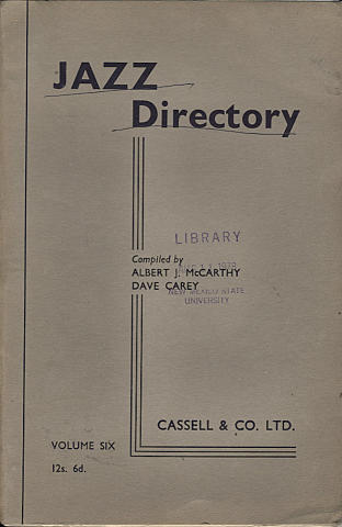 Jazz Directory: Volume 6 - 12s. 6d.