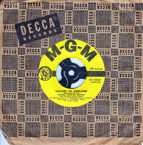 """Lullaby of Birdland / Love is Here to Stay Vinyl 7"""" (Used)"""