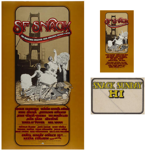 SNACK Benefit Poster/Handbill/Backstage Pass Set