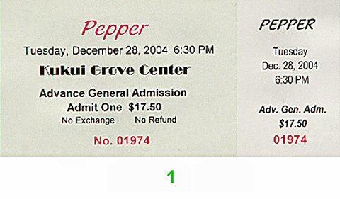 Pepper Vintage Ticket