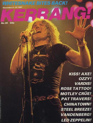 Kerrang Magazine December 2, 1982