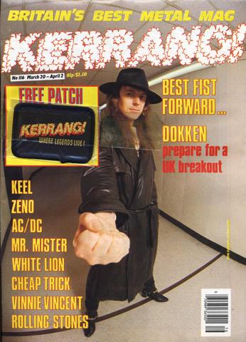 Kerrang Magazine March 20, 1986