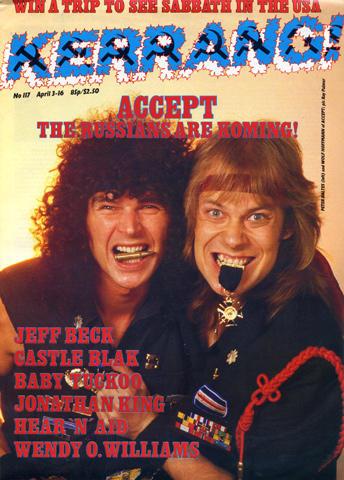 Kerrang Magazine April 3, 1986