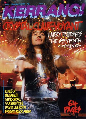 Kerrang Magazine November 19, 1988