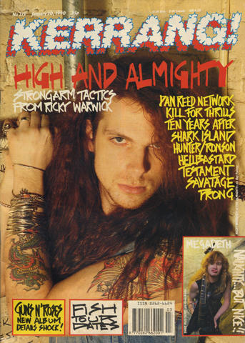 Kerrang Magazine January 20, 1990