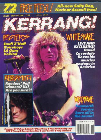 Kerrang Magazine March 10, 1990
