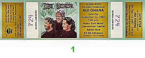 Hui 'Ohana Vintage Ticket