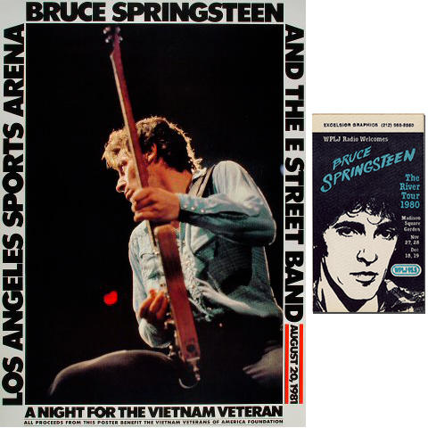 Bruce Springsteen & the E Street Band Poster/Backstage Pass Set