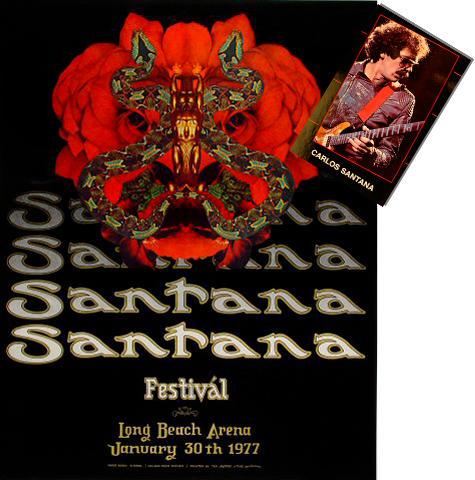 Santana Poster/Postcard Set