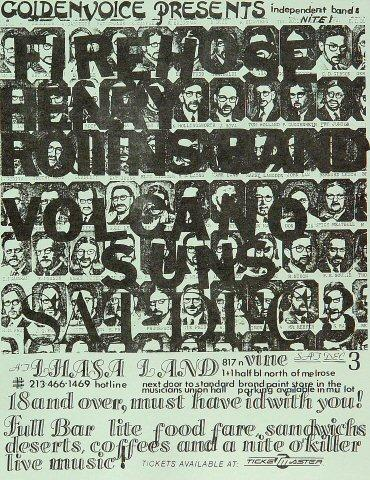 fIREHOSE Handbill