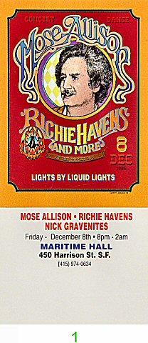 Mose Allison Vintage Ticket