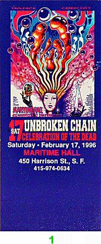 Unbroken Chain Vintage Ticket
