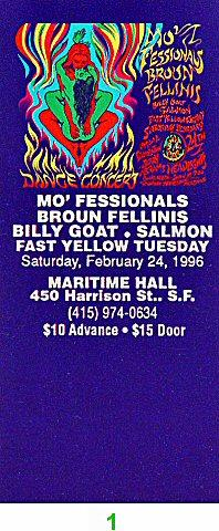 The Mo' Fessionals Vintage Ticket