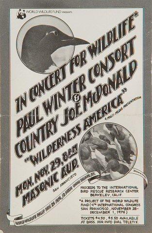 Paul Winter Consort Handbill