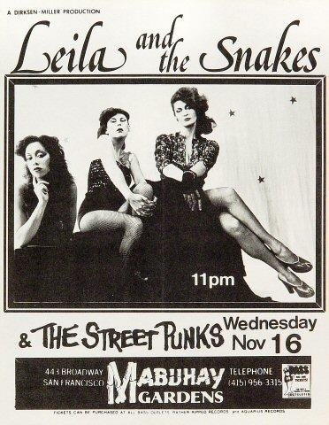 Leila and the Snakes Handbill