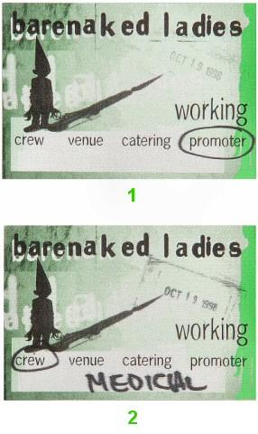 Barenaked Ladies Backstage Pass