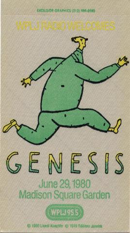Genesis Backstage Pass