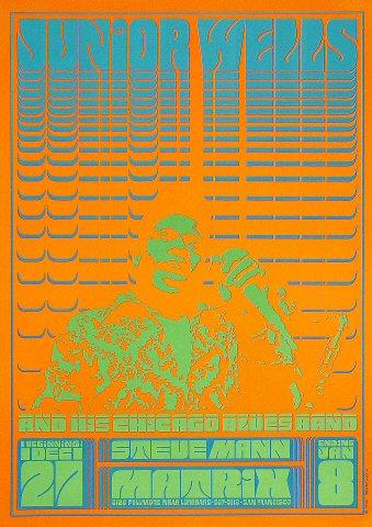Junior Wells & His Chicago Blues Band Poster