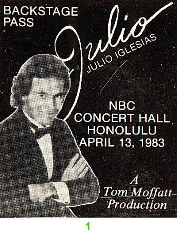Julio Iglesias Backstage Pass