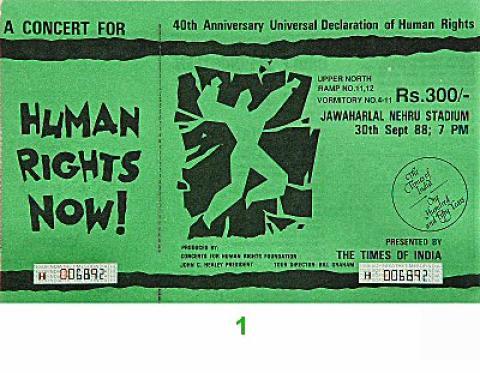 Amnesty International Benefit Vintage Ticket