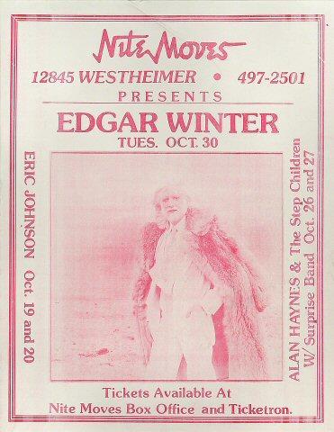 Edgar Winter Handbill