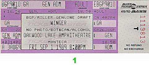 Winger Vintage Ticket