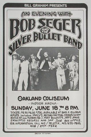 Bob Seger and The Silver Bullet Band Poster
