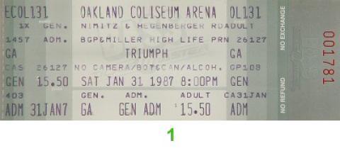 Triumphlee Vintage Ticket