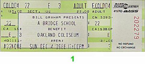 Bridge School Benefit Vintage Ticket
