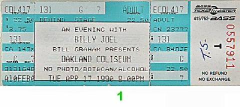Billy Joel Vintage Ticket