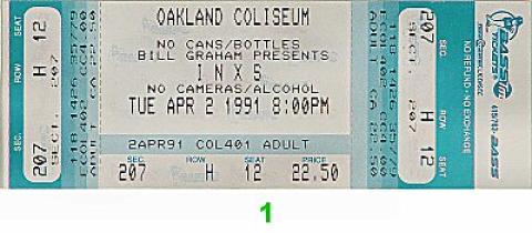 INXS Vintage Ticket