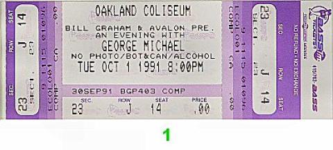 George Michael Vintage Ticket