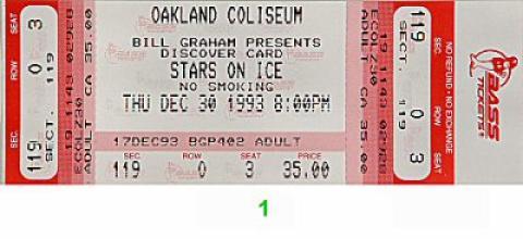 Stars on Ice Vintage Ticket