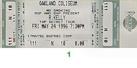 R. Kelly Vintage Ticket