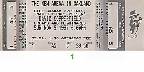 David Copperfield Vintage Ticket