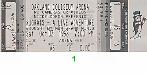 Rugrats Vintage Ticket