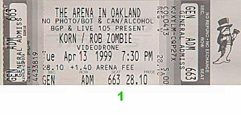 Korn Vintage Ticket