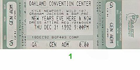 New Year's Eve Here and Now Vintage Ticket