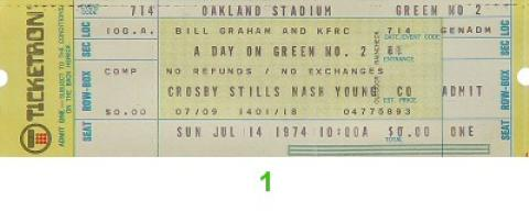 Crosby, Stills, Nash & Young Vintage Ticket