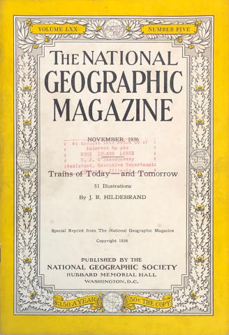 National Geographic Vol. LXX No. 5