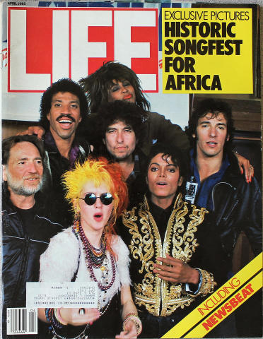 LIFE Magazine April 1985 - Historic Songfest for Africa