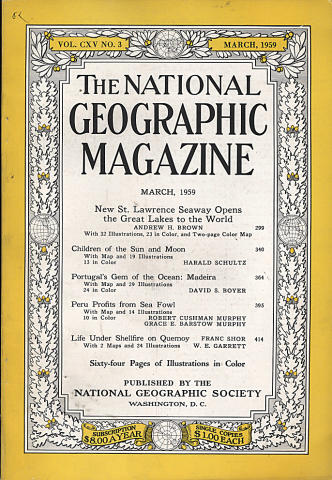 National Geographic March 1959