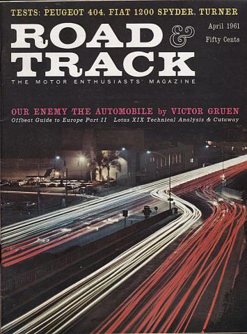 Road & Track Magazine April 1961