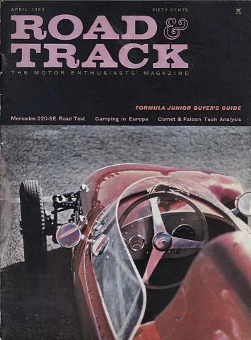 Road & Track Magazine April 1960